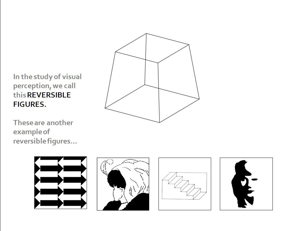 Reversible figures - Gestalt.